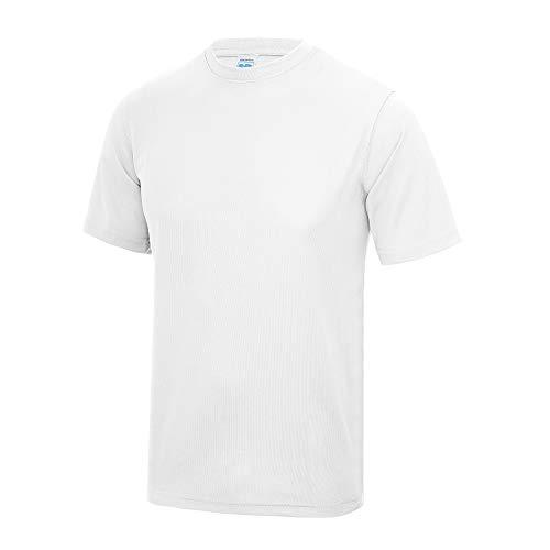 T-shirt performance uni Just Cool pour homme (M) (Blanc arctique)