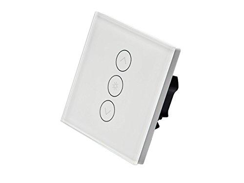 Konyks Vollo Max, Interrupteur WiFi encastrable pour volets roulants, Rétroéclairage contrôlable, compatible avec Alexa et Google Home, automatisations faciles