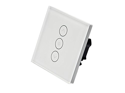 Konyks Vollo Max - Interruptor WIFI de empotrar para persianas, Retroiluminación programable compatible Google Home y Alexa, rautomatizaciones fáciles,