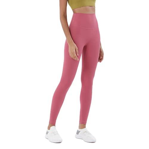 QTJY Pantalones de Yoga para Mujeres Desnudas Suaves, Cintura Alta, Levantamiento de Cadera, Pantalones elásticos de Secado rápido, para Correr al Aire Libre, B XL