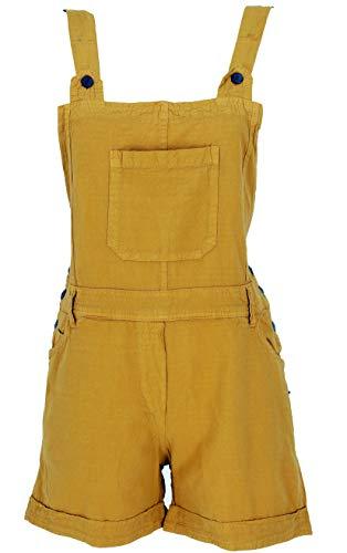 GURU SHOP Goa Shorts, Kurze Latzhose, Latzhose, Damen, Mustard, Baumwolle, Size:S (36), Shorts, Leggings Alternative Bekleidung