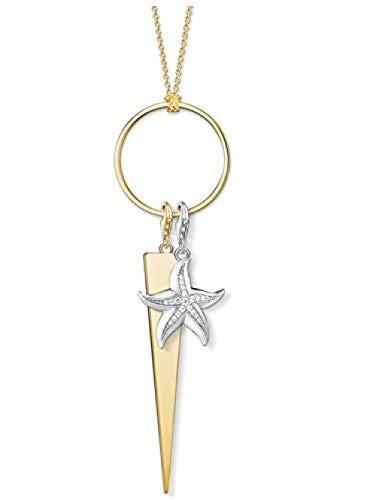 huangxuanchen co.,ltd Collar Collar con Dije Estrella De Mar 2020 Joyería De Primavera Thomas 925 Cadena De Eslabones Regalo para Mujeres Y Niñas