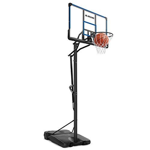 MaxKare Basketballkorb Basketballständer Höhenverstellbar Basketballanlage mit befüllbare Ständer mit Wasser Sand für Kinder Erwachsene Einstellbar 2.3m-3m Tragbar mit Pro 1.22m Rückwand und Räder