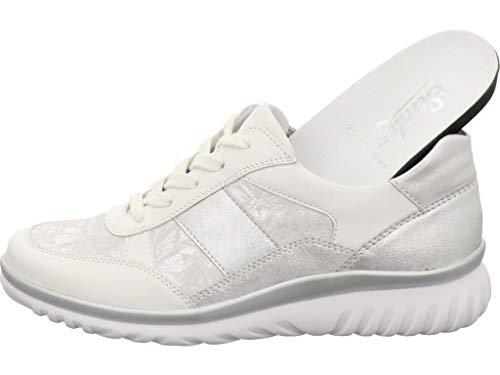Semler Damen Lena Sneaker, Weiß (Weiss-Silber 101), 38 EU