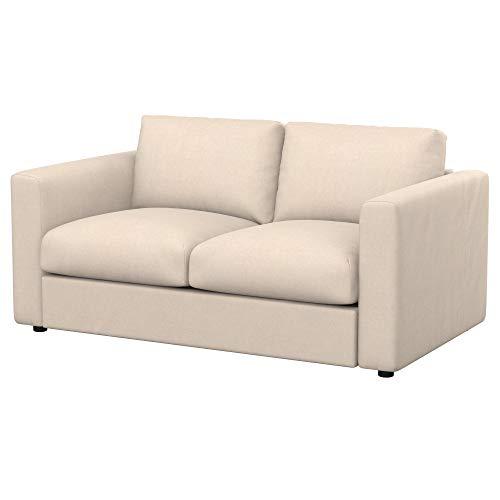 Soferia Fodera Extra Ikea VIMLE Divano a 2 posti, Tessuto Softi Beige