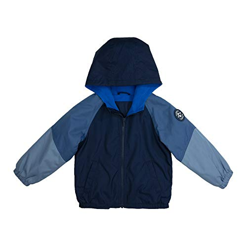 Carter's Baby Boys' Fleece Lined Midweight Jacket, Blue Navy Color Block, 24MO