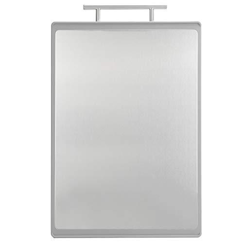 Tabla de cortar, 10,7 x 41,1 cm antideslizante herramienta de cocina de doble cara tabla de cortar con mango para cocina (gris)