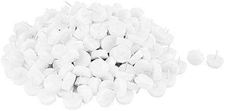 DealMux Plastic Huishoudelijke Vloerbeschermer Stoel Tafel Meubelpoten Glide Nail 10 x 28mm 200st Wit