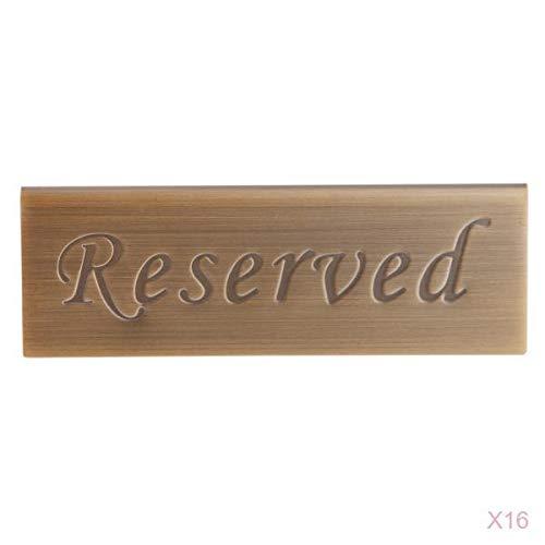 LOVIVER 16 Stück Reserviert Tisch Zeichen Hochzeit Restaurant Tabletop Dekor Edelstahl