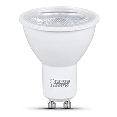 "Feit Electric MR16GU105005K10KLED6 50W Equivalent MR16 Reflector GU10 (6-Pack) LED Light Bulb, 2.4"" H x 2"" D, Daylight 5000K, 6 Piece"