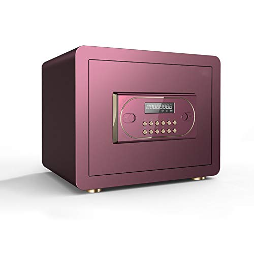 ZLSANVD Safe Box for Home High Security Steel Small Home Office Digital Electronic Safe Box with Key Small Value Safe with Digital Keypad for Extra Security (Color : Purple)