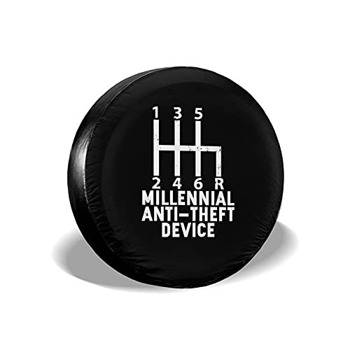 Millenial Anti Theft Device Spare Tire Cover Universal Fit for Jeep Rvs Trucks Cars Trailer 14 15 16 17 inch Wheel