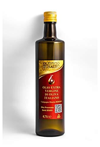 Olio Extra Vergine di Oliva Italiano - Prodotto in Sicilia - GOLD 2020 PRICE AWARD - Extra Vergine Premium - Estratto a freddo - Vegano (Olio Extra Vergine di Oliva, 0.75 Litri)