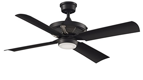 Fanimation Pickett - 52 inch - Black with Brushed Nickel Accents with LED Light Kit and Wall Control - FP7996BLBNW