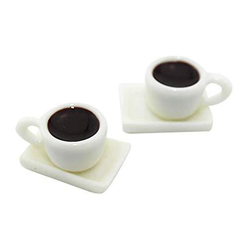 Vektenxi 1/12 Skala Holz Miniatur kaffeetasse untertasse Simulation Modell DIY puppenhaus Garten Dekoration d125-c kreative und nützliche