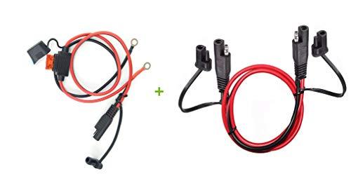 Dongge Cable de extensión de conexión rápida de 2 pines Sea to SAE de 1,2 m, para árbol, conector SAE, adecuado para coches, motos, baterías solares, etc.
