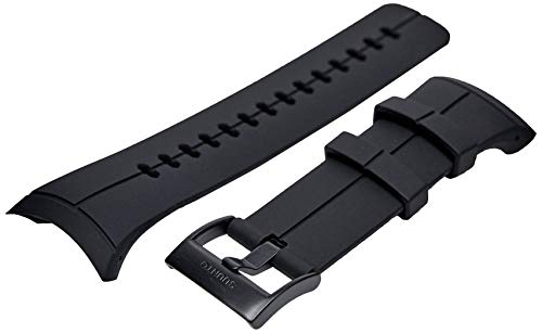 SUUNTO, Original Strap for All Spartan Ultra Watches, Silicone, Length: 24,5 cm, Width: 25 mm, Deep Black, Incl. Attachment pins, SS022687000