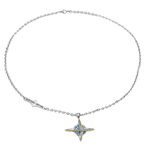 Holibanna Planet - Collar con colgante de cruz de diamantes de imitación y espacio exterior para adolescentes niñas y niños