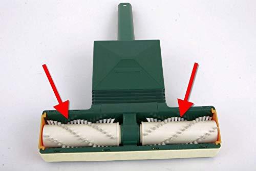 1 Paar Hochwertige Ersatzbürsten Bürsten Rundbürsten Bürstenrollen Walzen passend für Vorwerk Teppichreiniger Teppich-Frischer 730 731 732