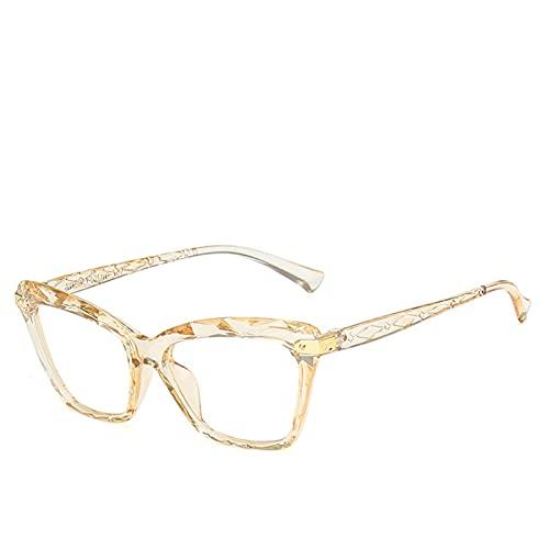 Gafas de lectura Crystal Optical Computer Gafas de sol para mujer, accesorios de ropa (color champán, tamaño: +200)
