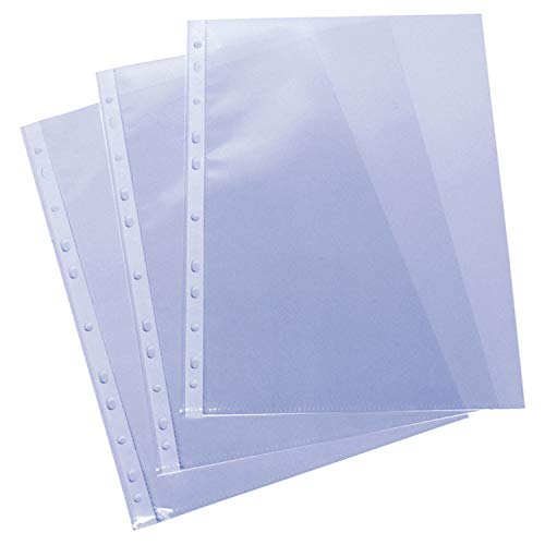 Grafoplas 5577700 - Fundas con taladros en polipropileno xs embolsadas, A4, color transparente ⭐