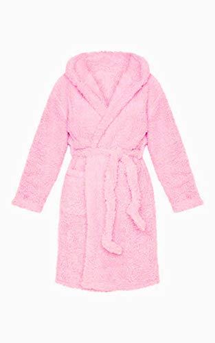 QND Winterroben Frauen Bademantel Nachthemd Dickes warmes Gewand Winter Unisex Einhorn Plüsch Pyjama Pink Niedlich Erwachsene Tier Flanell Bademantel Nachtwäsche, Pink, XL