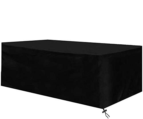 TOSRB Garden Furniture Covers Waterproof Outdoor Furniture Table Cover for Table Chairs Rattan Furniture Covers Large Rectangular Patio Cover 420D Oxford Black 170 X 94 X 70cm