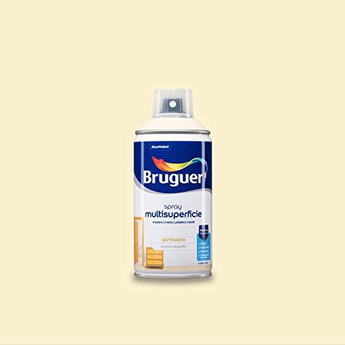 Bruguer Acrylic Multisuperficie Esmalte al agua en Spray Satinado Blanco Algodón 300 ml