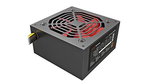 Mars Gaming Mpb650 - Alimentatore per PC (650 W, 80 W, Più Bronzo, Pfc Attivo, Ultrasilenzioso) Colore Nero, Non Modulare