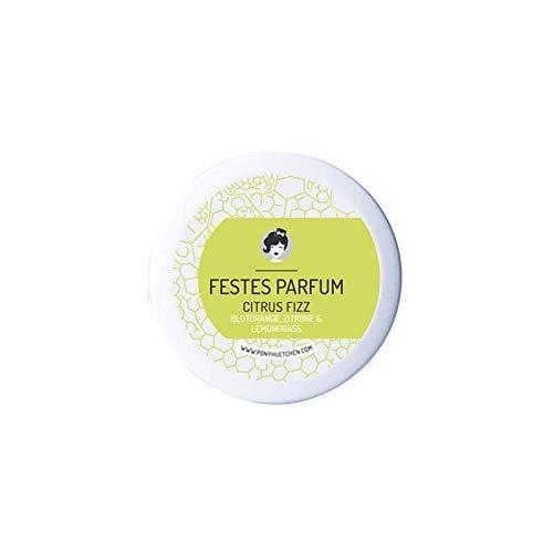 PonyHütchen Naturkosmetik festes Parfüm Citrus Fizz - Cremeparfüm ohne ALKOHOL - fruchtig-herber Duft - allergenfrei - 12 ml - handgemacht - vegan - BIO