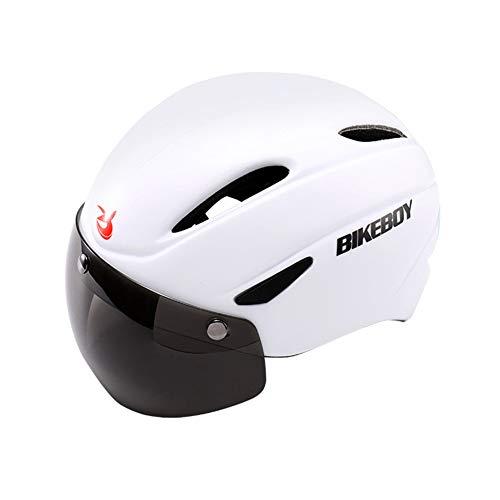 chenyu - Casco de Ciclismo con Visera magnética Desmontable, Ajustable, Ultraligero, Unisex,...