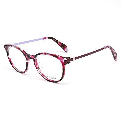 TOUS S0350819 Marcos para gafas recetadas, Marrón, 49 mm para Mujer