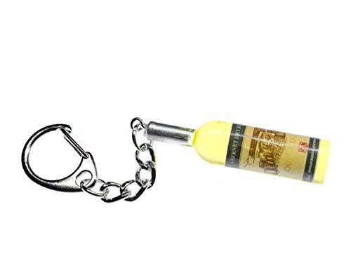 Miniblings Amarilla Vino Llavero Botella de Vino Vino Blanco 48mm - joyería Hecha a Mano de la Moda I I Colgante Llavero Llavero