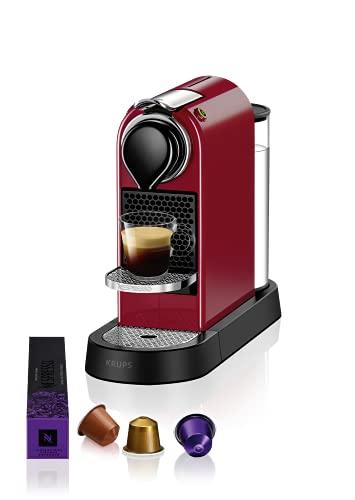 Krups Nespresso XN7415 New CitiZ Kaffeekapselmaschine (1260 Watt, 19 bar Pumpendruck, Wassertankkapazität: 1 Liter) Rot