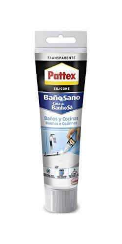 Pattex silicona Baños y Cocinas, resistente al moho y agua, transparente, 50 ml