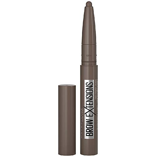 Maybelline New York Brow Xtensions, Matita Cremosa in Stick per Sopracciglia, Deep Brown