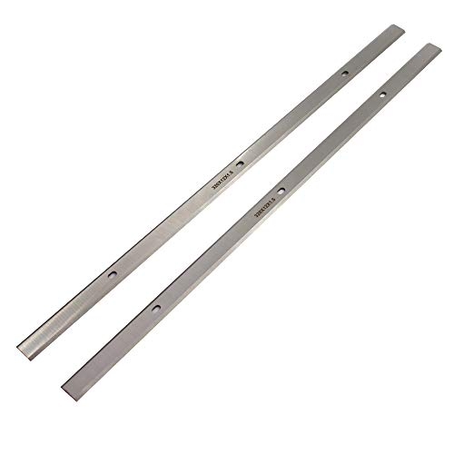TJATSE Planer Blades 12.5 Inches HSS Replacement Knives for Craftsman 21758 Delta 22-560 22-562 22-565 TP400LS Porter Cable PC305TP Wen 6550 12-1/2'x15/32'x1/16' - Set of 2