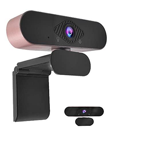 Wollet Webcam 1080P Cámara USB Transmisión de Cámara Web externa HD con micrófono, de aprendizaje en línea, videollamadas, juegos, compatible con ordenador portátil de escritorio