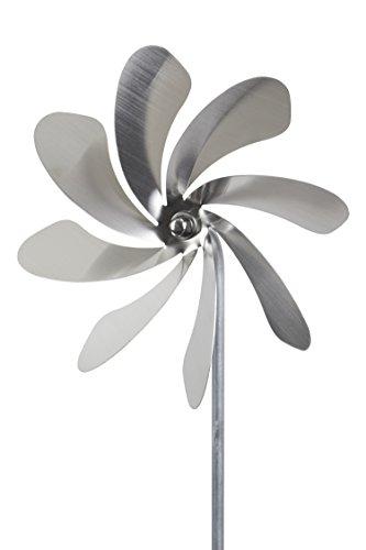 steel4you A1002 SKARAT Windrad Windmühle Speedy20 aus Edelstahl (20cm Rotor-Durchmesser), kugelgelagert, Edelstahl Dekoration Garten - Made in Germany