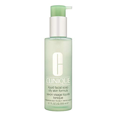 Clinique Liquid Facial Soap | Combination-Oily to Oily Skin Formula | Dermatologist-Developed to Protect Natural Moisture Balance | Free of Parabens, Phthalates, and Fragrance | 6.7 fl oz