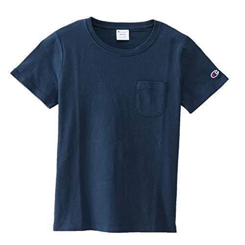 [チャンピオン] BASIC ポケット付Tシャツ CW-M321 レディース ネイビー 日本 M (日本サイズM相当)