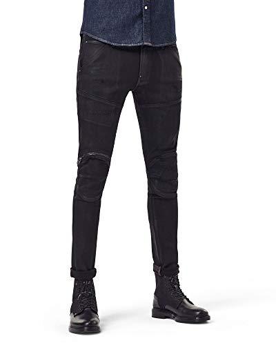 G-STAR RAW Men's 5620 3D Zip Knee Skinny Jeans - Black - W36