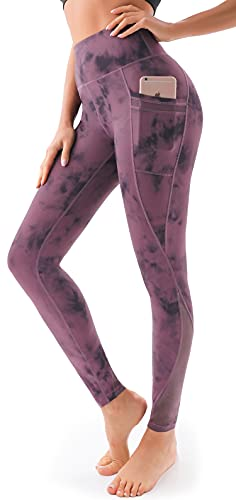 Persit Yoga Leggings Damen, Sporthose Yogahose Sport Leggins Tights für Damen Mauve-Size 36 (Herstellergröße: S)