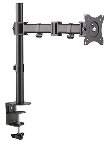 RICOO TS5711, Bildschirm-Halterung, Schwenkbar, Neigbar 12-29 Zoll (30-74cm) Monitor-Ständer, Schreibtisch Stand-Fuss, VESA 75x75 100x100, Schwarz