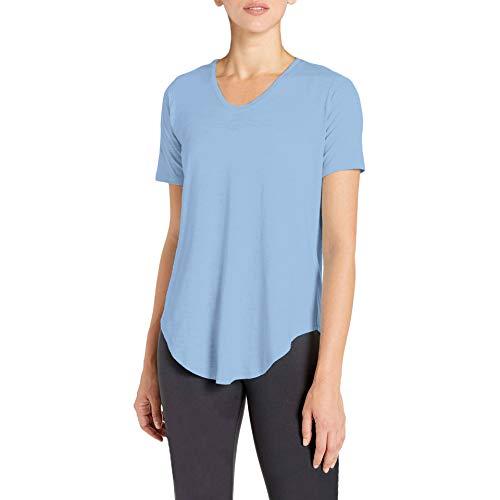 H HIAMIGOS dames T-shirt tuniek met V-hals voor sport en vrije tijd, korte mouwen