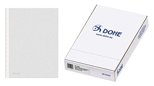 Dohe Basic - Pack de 100 fundas multitaladro A4, Plus