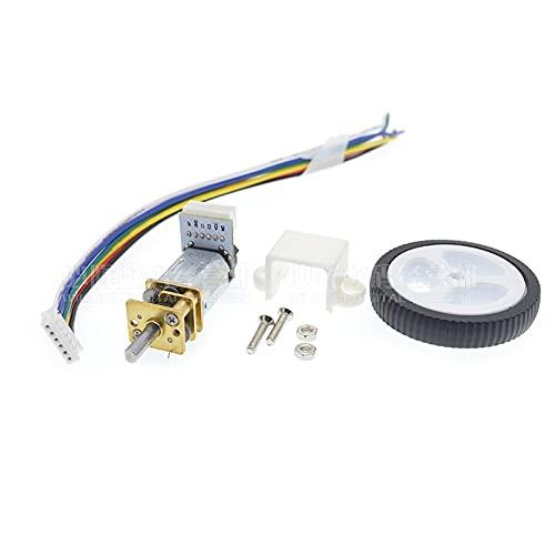 LKK-KK Motor Micro Gear Motor N20 Engranaje Con Rueda Encoder (Speed(RPM) : 310rpm, Voltage(V) : 6V)