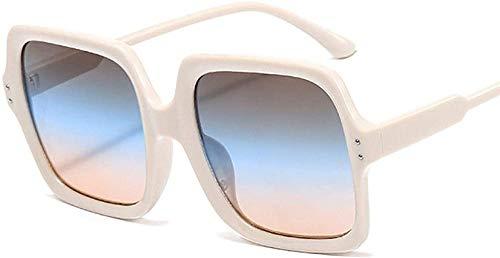 HNsusa Gafas de sol de gran tamaño con montura cuadrada Gafas de sol para mujer Gafas de sol vintage para hombre Gafas de diseñador de lujo Trend-4