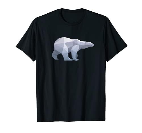 Papel de origami plegable Oso Polar Poligonal Camiseta