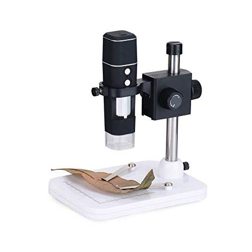 Digitale Microscoop met Lifting Ondersteuning 1000x Zoom Endoscoop, WiFi Digitale Microscoop Handmatige Focus,8 LED Lights